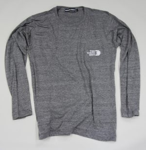 long sleeve t shirt with pocket&back print-g